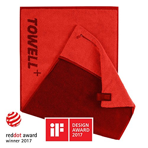 STRYVE Towell Plus Handtuch mit Tasche und Magnetclip ...