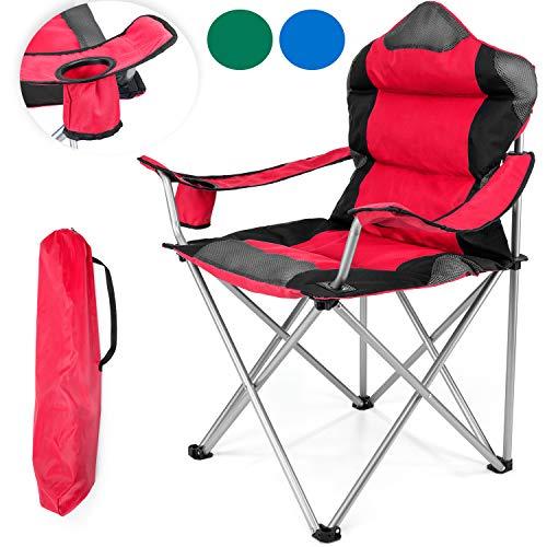 tresko campingstuhl faltbar bis 150 kg angelstuhl. Black Bedroom Furniture Sets. Home Design Ideas
