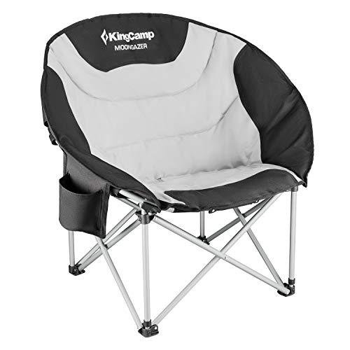 kingcamp moon chair campingstuhl bis 150 kg belastbar mit k hltasche taynit. Black Bedroom Furniture Sets. Home Design Ideas
